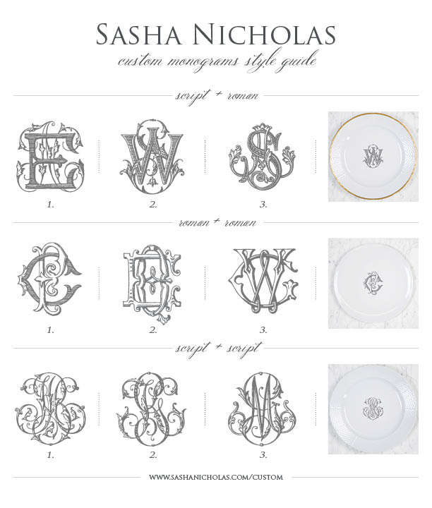 click here to view our custom monogram style guide