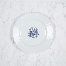 BAIZER-MOON WEDDING WEAVE SALAD PLATE WITH MONOGRAM
