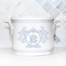 NELSON-EBINGER WEDDING CHAMPAGNE BUCKET WITH FLEUR DE LIS CREST