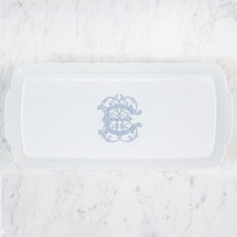 NELSON-EBINGER WEDDING WEAVE HOSTESS PLATTER WITH MONOGRAM