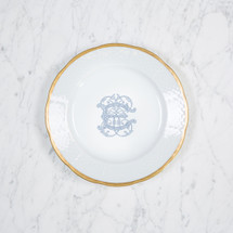 NELSON-EBINGER WEDDING WEAVE 24K GOLD SALAD PLATE WITH MONOGRAM