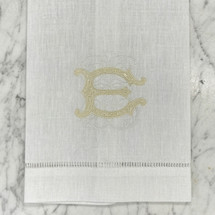 Clote-Wood Embroidered Guest Towel w/Hemstitching (W)