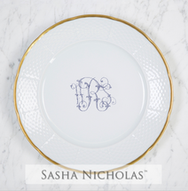 Smith-Roberts Weave 24K Gold Dinner Plate
