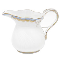 Valdez-Tritt Herend Princess Victoria Creamer, Light Blue