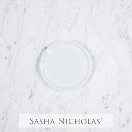 Coaster with Fleur De Lis Crest - Sasha Nicholas