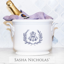 Convy-Allen Champagne Bucket with Couture Wreath