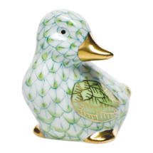 GATES-ENGLER HEREND MINIATURE DUCK, KEY LIME