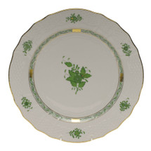GATES-ENGLER HEREND CHINESE BOUQUET SERVICE PLATE, GREEN
