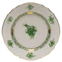 GATES-ENGLER HEREND CHINESE BOUQUET BREAD+BUTTER PLATE, GREEN