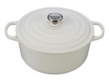 Ruzicka-Pavic Le Creuset 7.25 QT Round Dutch Oven | White