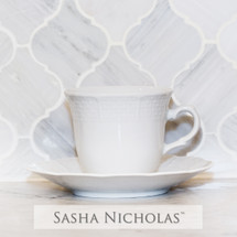 Ruzicka-Pavic Weave Simply White Tea Cup & Saucer