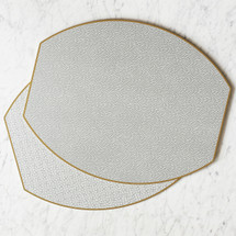 Veal-Weiche Ellipse Reversible Placemat, Set Of 4 | Platinum