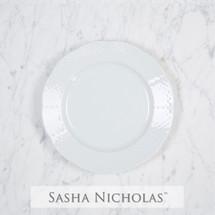 Sasha Nicholas Dinnerware Dishes Salad Plate Wedding Registry Gift Basketweave Dish Porcelain European Custom