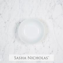 Sasha Nicholas Dinnerware Dishes Petite Bowl Wedding Registry Gift Basketweave Dish Porcelain European Custom