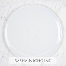 Sasha Nicholas Coup Contemporary Porcelain  Imagine Dinner Plate Dish Monogram monogrammed custom  Wedding Bridal Gift Registry