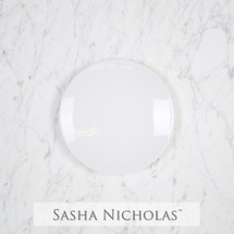 Sasha Nicholas Coup Contemporary Porcelain  Imagine Dinner Plate Dish whiteware monogrammed custom  Wedding Bridal Gift Registry