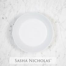 Sasha Nicholas Coup Contemporary Porcelain  Imagine bowl Dish Monogram monogrammed custom  Wedding Bridal Gift Registry