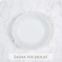 Sasha Nicholas cereal bowl weave basketweave Monogram monogrammed custom  Wedding Bridal Gift Registry porcelain european