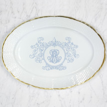 TRAVERS-REID WEAVE 24K GOLD OVAL PLATTER