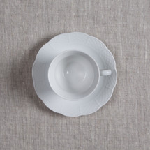 BLASE-SANDERS WEAVE SIMPLY WHITE CUP AND SAUCER