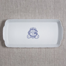 QUIGLEY-GERLI WEDDING RECTANGLE MONOGRAMMED PLATTER