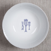 GILBRIDE-TEAGUE WEDDING MONOGRAMMED WEAVE LARGE SERVING BOWL