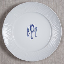 "GILBRIDE-TEAGUE WEDDING MONOGRAMMED WEAVE 10.25"" DINNER"