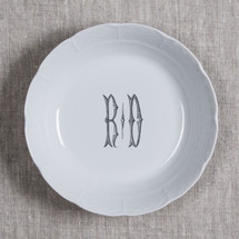 MANKEY-THOMPSON WEDDING WEAVE MONOGRAMMED CEREAL BOWL