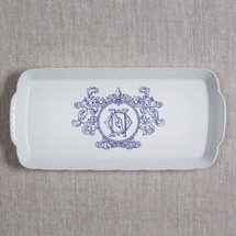 ANDERSON-O'NEIL WEDDING MONOGRAMMED WEAVE RECTANGLE PLATTER