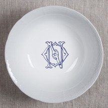 ANDERSON-O'NEIL WEDDING MONOGRAMMED WEAVE LARGE SERVING BOWL