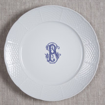 "BYRNES-PFLUGER WEDDING MONOGRAMMED WEAVE 10.25"" DINNER"