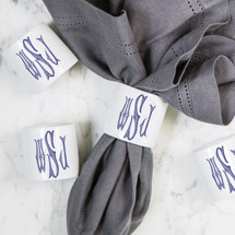 TARYLE-SHURTLEFF MONOGRAMMED NAPKIN RINGS