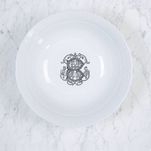 CONFORTI-BRCIC MONOGRAMMED WEAVE LARGE SERVING BOWL