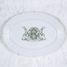 "CONFORTI-BRCIC HOLIDAY MONOGRAMMED WEAVE 14"" OVAL PLATTER"