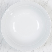 Sasha Nicholas Monogram Monogrammed Dinnerware Gift Wedding Registry Bridal Custom Porcelain White Dishes Serving Large bowl
