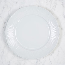 "HICKEY-WILSON WEAVE SIMPLY WHITE 10.25"" DINNER PLATE"