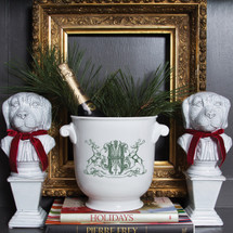 CIAPCIAK-HUGHES WEDDING HOLIDAY CHAMPAGNE BUCKET WITH INSCRIPTION ON BOTTOM