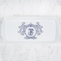 ANGLIM-FARRELL WEDDING WEAVE RECTANGLE PLATTER WITH FLEUR DE LIS CREST