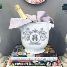 HUNT-HONAKER WEDDING FLEUR DE LIS CHAMPAGNE BUCKET