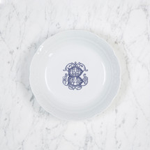 HESSE-BROOKS WEDDING WEAVE MONOGRAMMED CEREAL BOWL