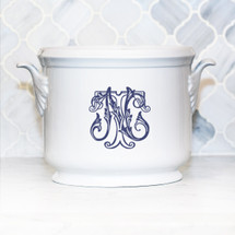 HESSE-BROOKS WEDDING LEAF HANDLED CHAMPAGNE BUCKET