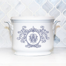 SCHLAFLY-WRIGHT WEDDING FLEUR DE LIS CHAMPAGNE BUCKET