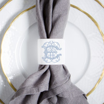 NELSON-EBINGER WEDDING NAPKIN RINGS WITH MONOGRAM
