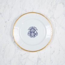 FANNING-BRONGE WEDDING WEAVE 24K GOLD SALAD PLATE WITH MONOGRAM