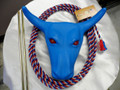 RED EYE Jr Steer Head Roping Practice Set w/ Waxed Nylon Rope RED/WHITE/BLUE