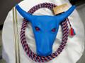 RED EYE Jr Steer Head Roping Practice Set w/ Waxed Nylon Rope RED/WHITE/BLUE