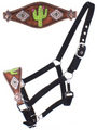 Showman Adjustable Nylon Bronc Halter with Hand Painted Navajo Cactus! FREE SHIPPING!