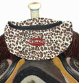 LEOPARD! Showman Insulated Nylon Saddle Pouch.