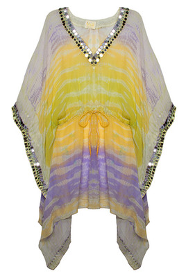 Indian Princess- Lime and Purple Ombre
