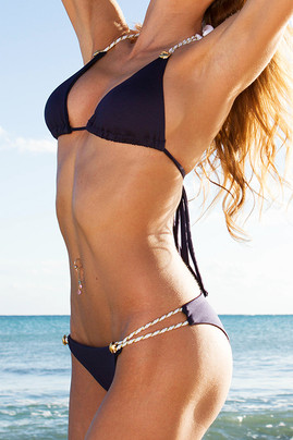 Captain String Bikini - Navy